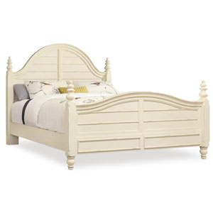 Sandcastle King Wood Panel Bed in Cream