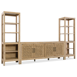 Wabi Sabi 76-Inch Woven Door Entertainment Console