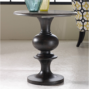 Melange Hadley Gray Pedestal Table