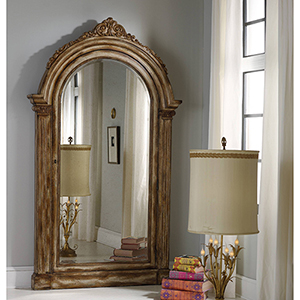 Vera Floor Mirror with Jewelry Armoire Storage