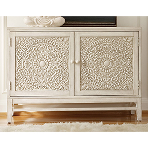 Matisette White Wood Chest