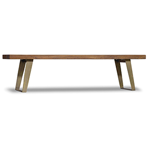 Transcend Wood and Metal Bench