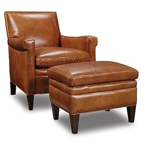 Jilian Brown Leather Club Chair
