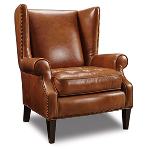 George Brown Leather Club Chair