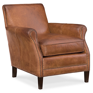 Royce Brown Leather Club Chair