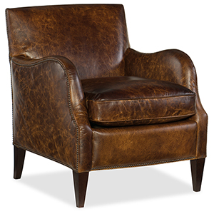 Thatcher Brown Leather Club Chair