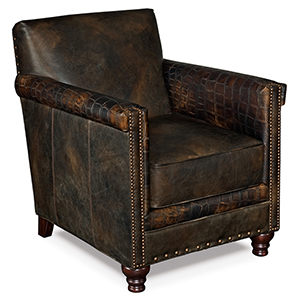 Potter Brown Leather Club Chair