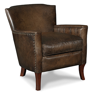 Quillie Brown Leather Club Chair