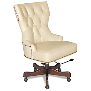 Primm Ivory Leather Desk Chair