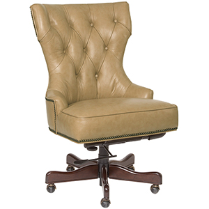 Primm Tan Leather Desk Chair