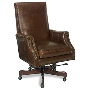 Warren Brown Leather Desk Chair