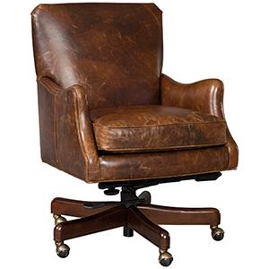 Barker Brown Tilt Swivel Chair