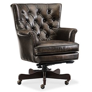 Theodore Brown Leather Home Office Chair