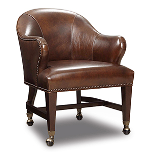 Queen Brown Leather Game Chair