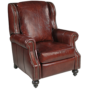 Drake Red Leather Recliner