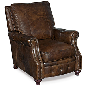 Winslow Brown Leather Recliner