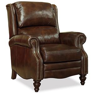 Clark Brown Leather Recliner
