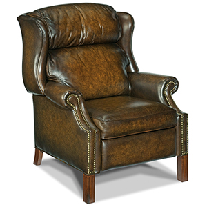 Finley Brown Leather Recliner