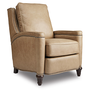 Rylea Tan Leather Recliner