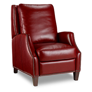 Kerley Red Leather Recliner