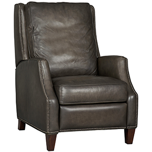 Kerley Gray Leather Recliner