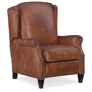 Silas Brown Leather Recliner