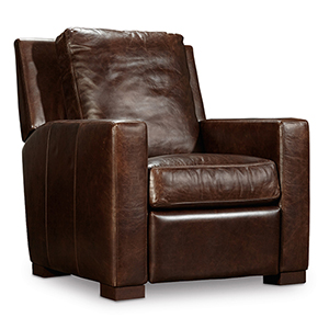 Thomas Brown Leather Recliner
