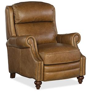 Ashton Brown Leather Recliner