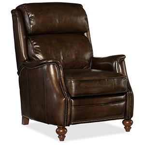 Allen Brown Leather Recliner