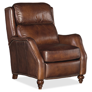 Ansley Brown Leather Recliner