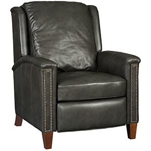 Kelly Gray Leather Recliner