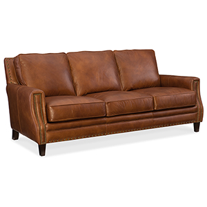 Exton Brown Stationary Sofa