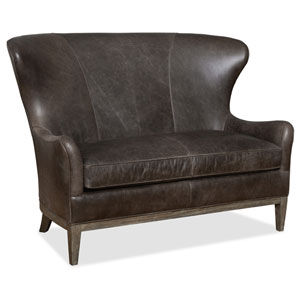 Donovan Dark Brown Leather Settee