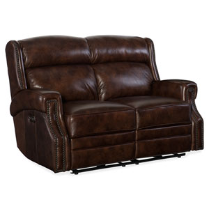 Carlisle Power Motion Chocolate Loveseat with Power Headrest