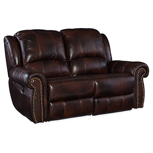 Jackson Brown Leather and Vinyl Loveseat
