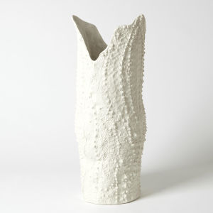 White Eight-Inch Large Vase