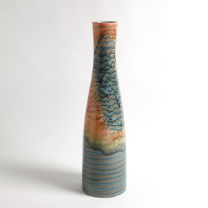 Studio A Home Multicolor Watercolor Ringed Vase