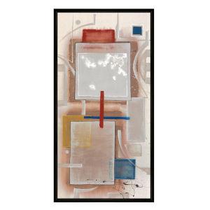 Color Block Multicolor Framed Printed Canvas Wall Art