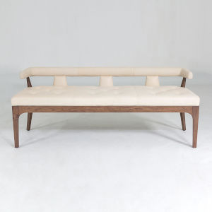 Moderno Natural Walnut Bench