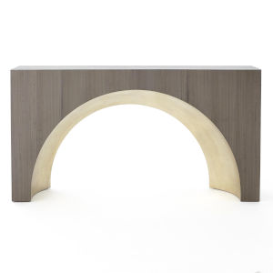 Studio A Home Gray and Gold Arches Console