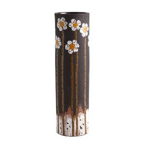 Black 6-Inch Daisy Vase