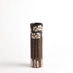 Black 4-Inch Daisy Vase