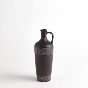 Black Ceramic Etched Bottle