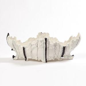Barcode White Nine-Inch Large Bowl