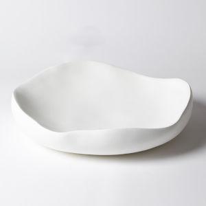 Matte White 19-Inch Round Bowl