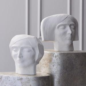 White Seven-Inch Decorative Female Plaster