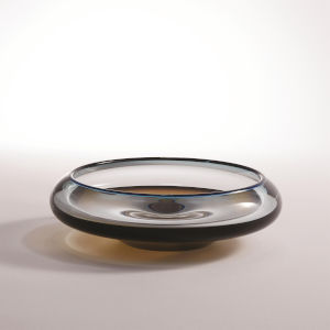 Studio A Home Turquoise and Beige Rolled Lip Bowl