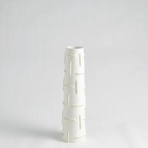 Antique White 17-Inch Totem Vase
