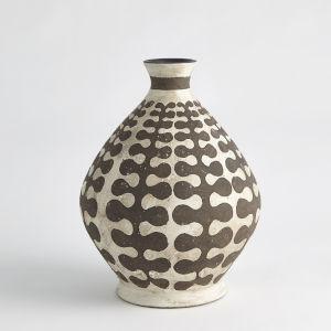 Brown Interlock Round Vase
