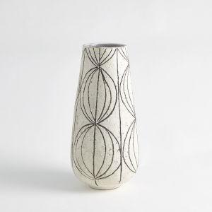 White Graffiti Vase